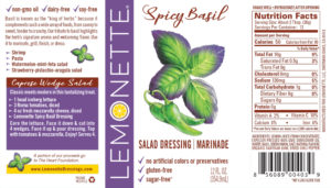 Spicy Basil label