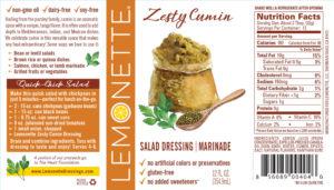 Zesty Cumin label